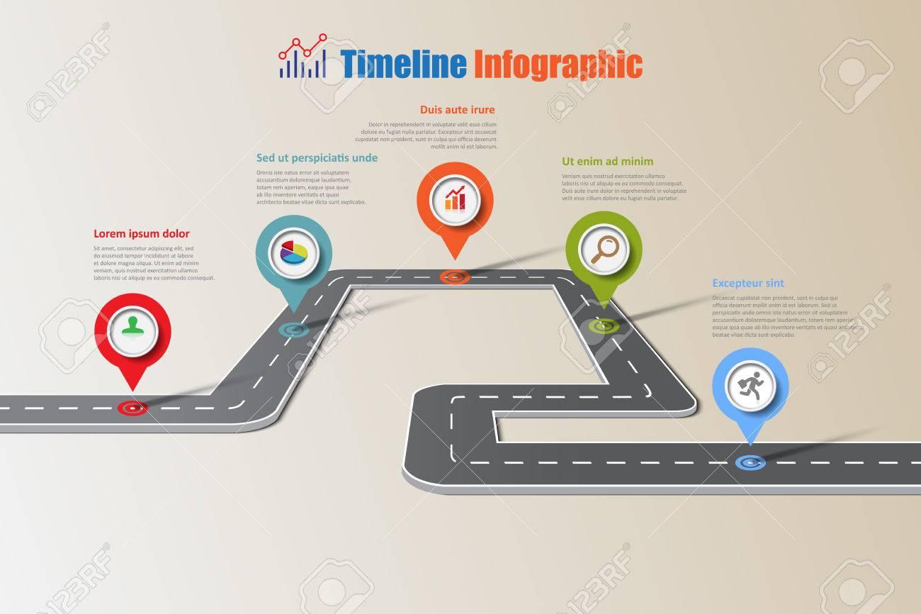 Icnes Dinfographie Chronologie De Carte Visite Entreprise Conu Pour Les Lments Modle Fond Abstrait Moderne Diagramme Processus Pages Web Flux