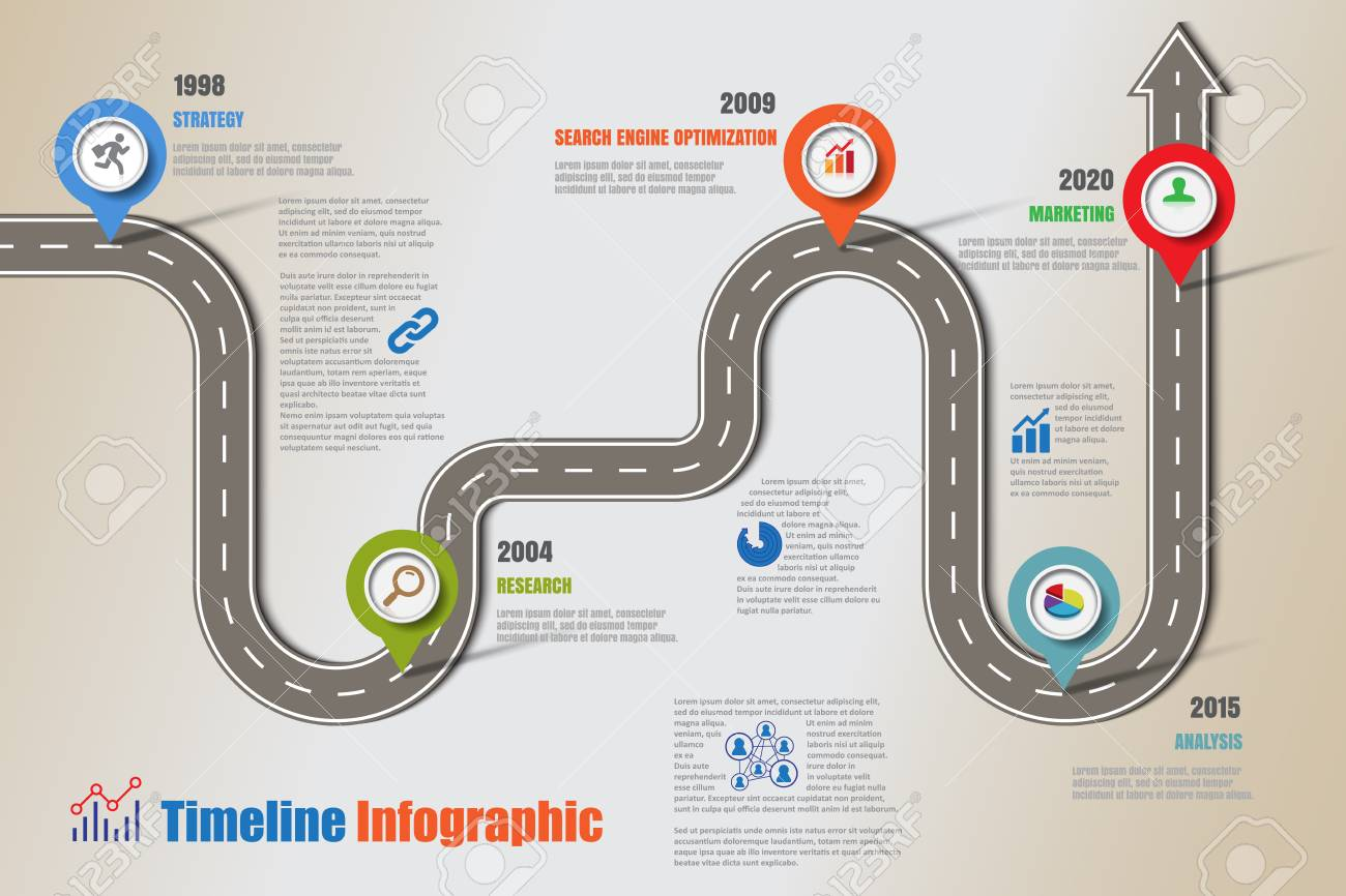 business road map timeline infographic icons designed for abstract