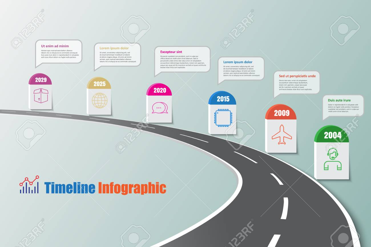 Business road map timeline infographic icons designed for abstract business road map timeline infographic icons designed for abstract template element modern diagram process web pages ccuart Choice Image