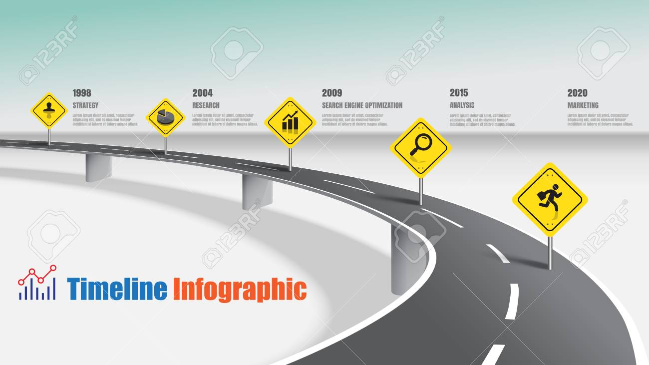 Business road map timeline infographic expressway concepts, Vector Illustration - 100957889