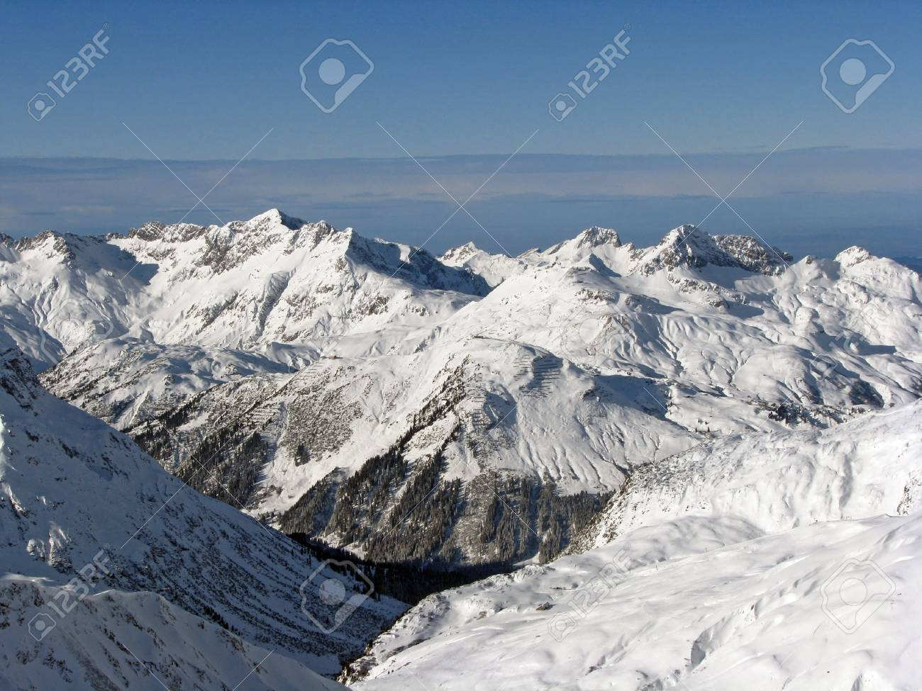 Beautiful view over valley in Austrian Alps Stock Photo - 16892198