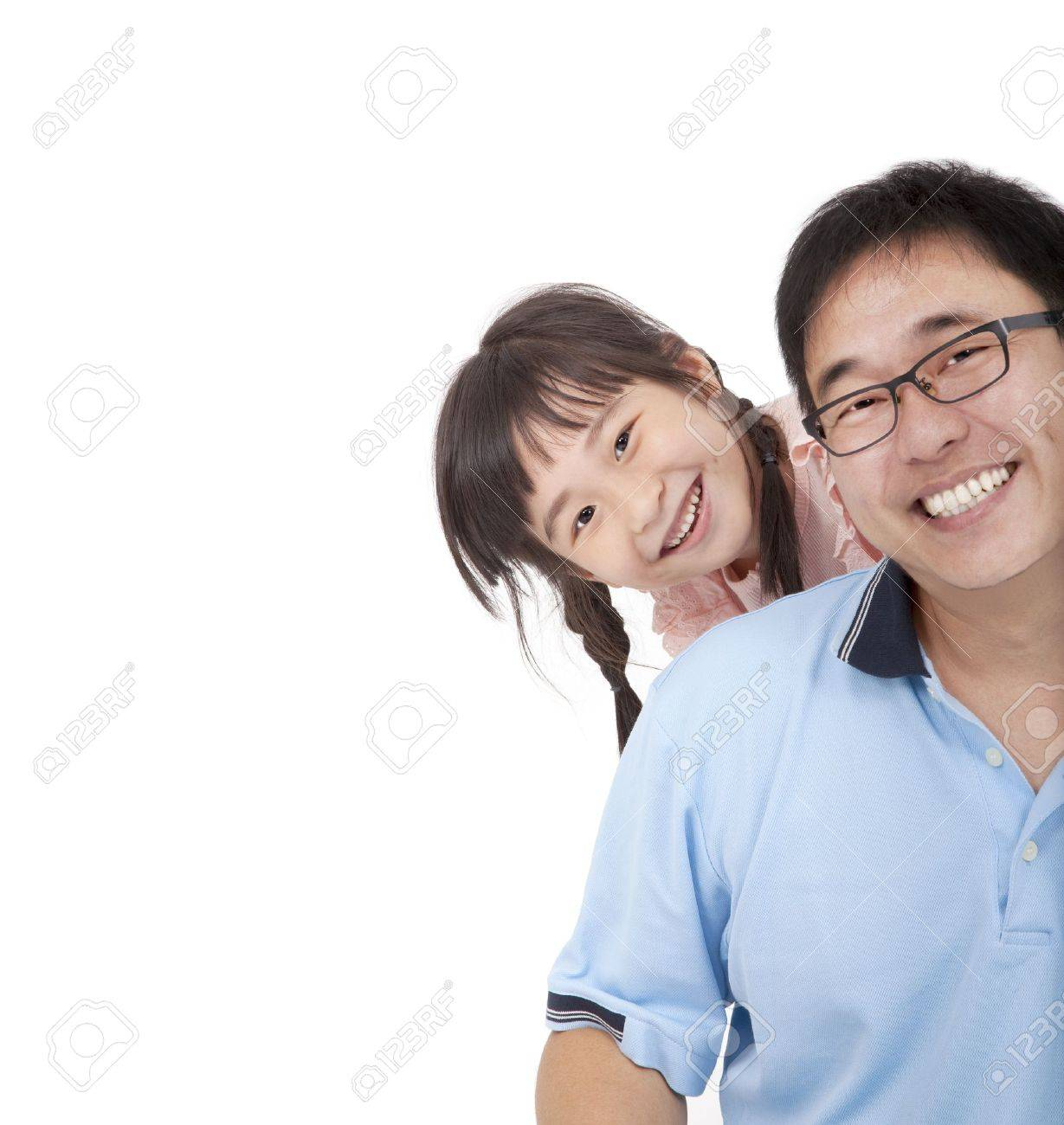 Happy father and girl.Asian family lifestyle Stock Photo - 10776751
