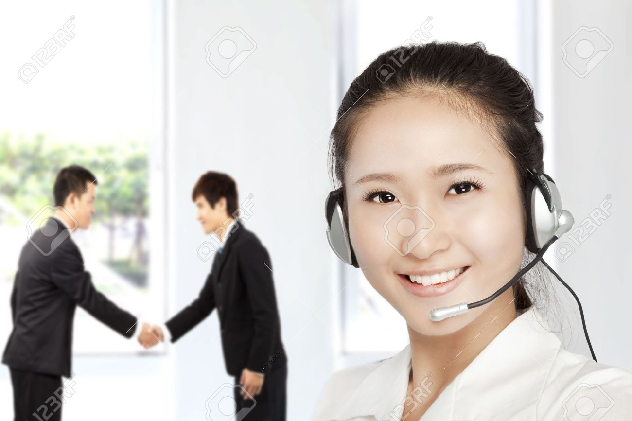 Smiling businesswoman  customer service on the phone Stock Photo - 10852758