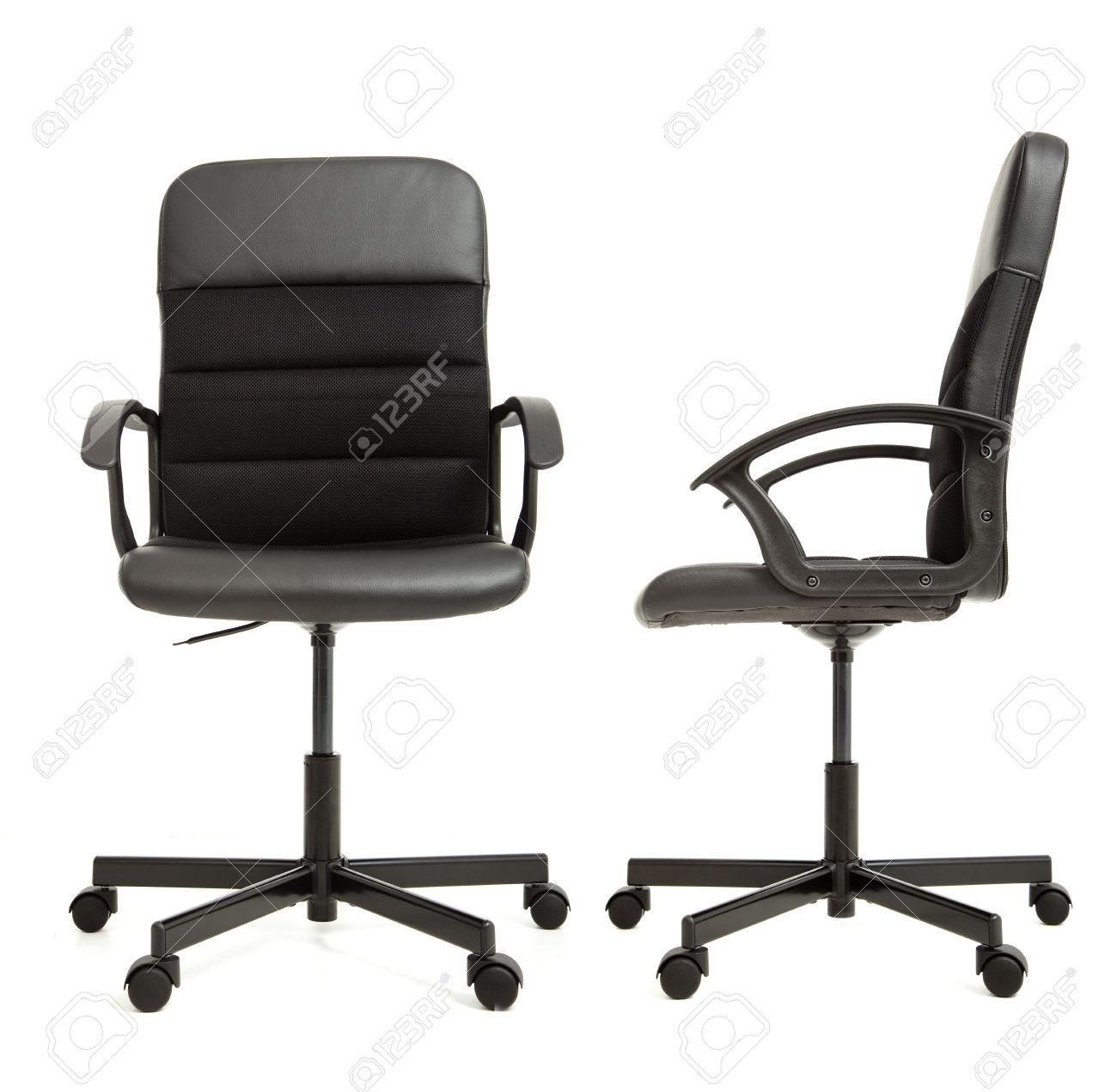 Office Chair On The White Background Front And Side View Stock Photo ... for Office Chair Front View  67qdu