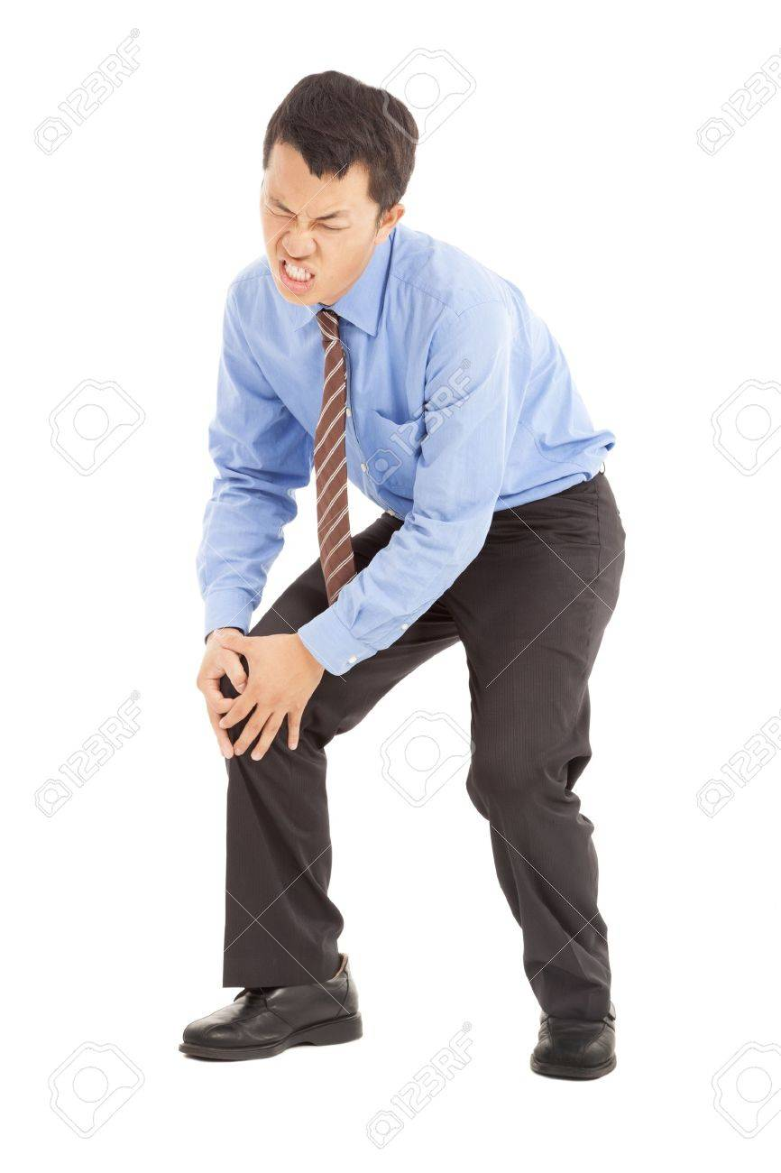 businessman with knee pain Stock Photo - 15291054