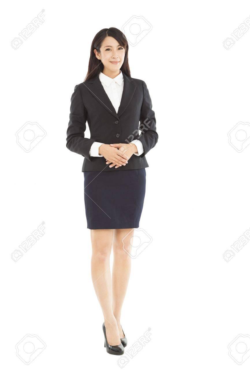 full length beautiful businesswoman standing Stock Photo - 20838288