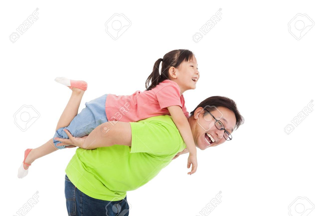 Happy father and daughter playing Stock Photo - 22110719