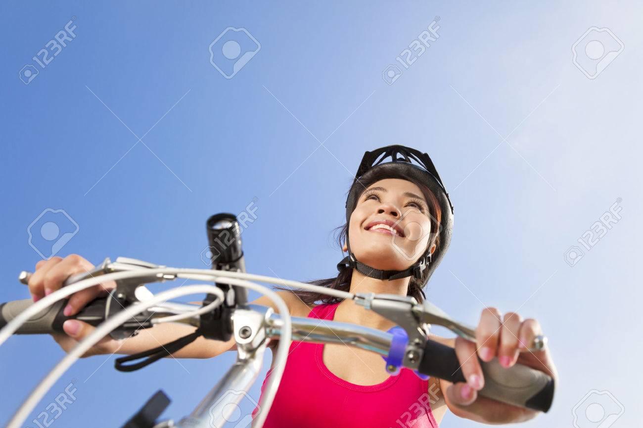 Mountain biking - portrait of young mountain biker Stock Photo - 25815474