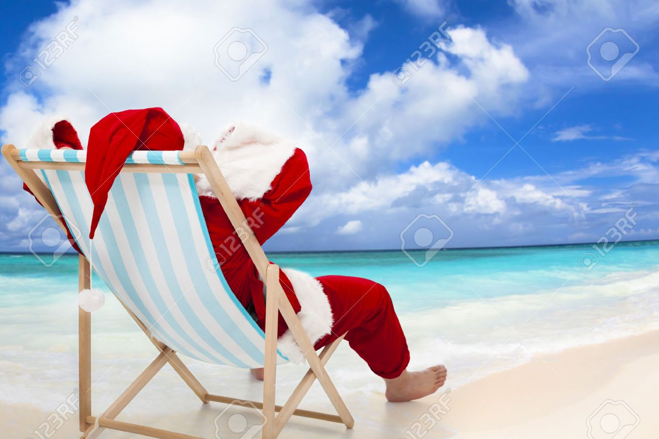 Image result for santa on the beach