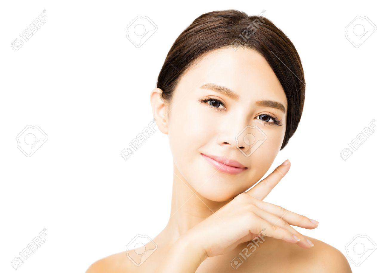 closeup young beauty woman face Stock Photo - 42041565