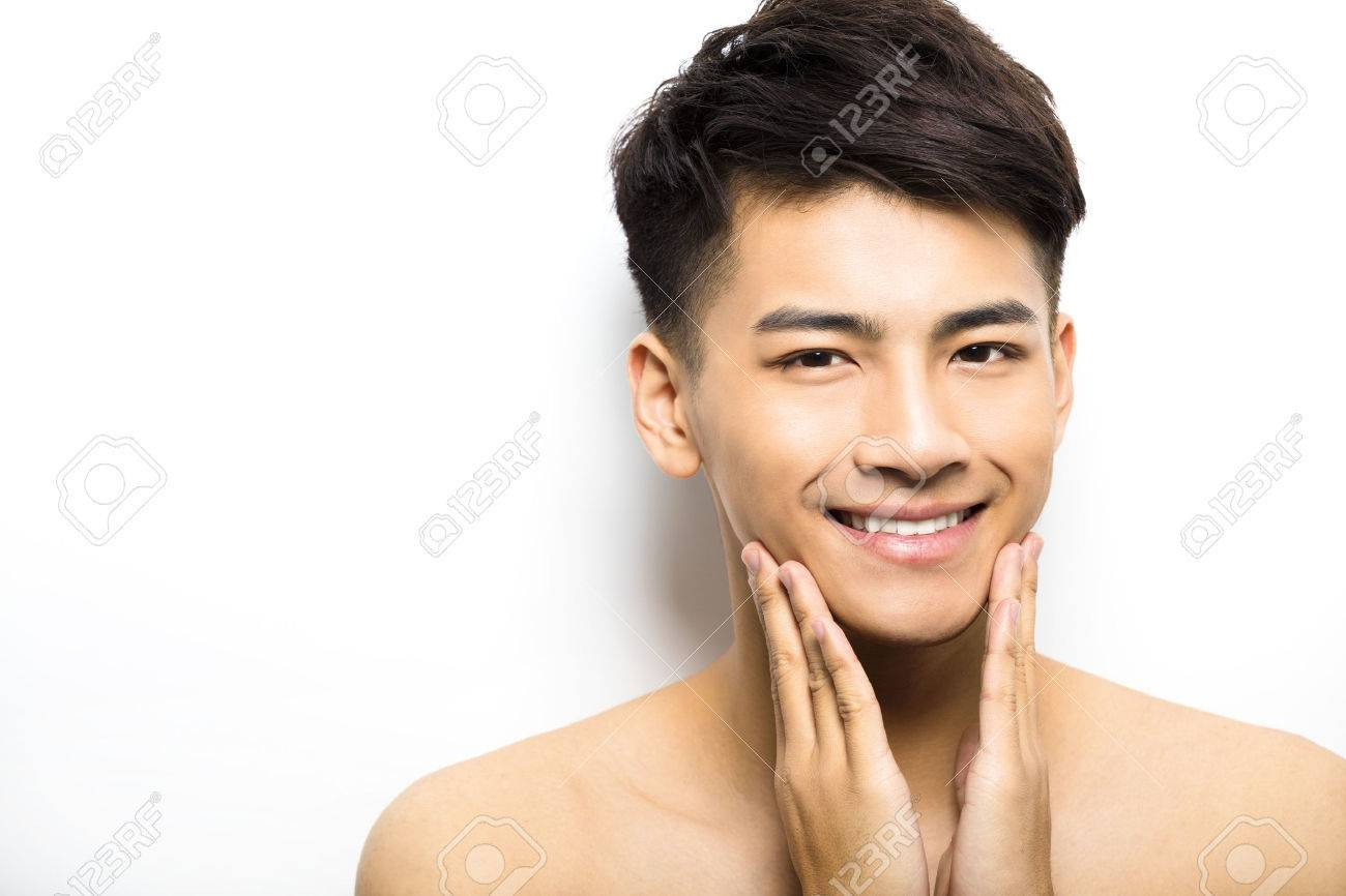 Closeup portrait of attractive young man face - 52000853