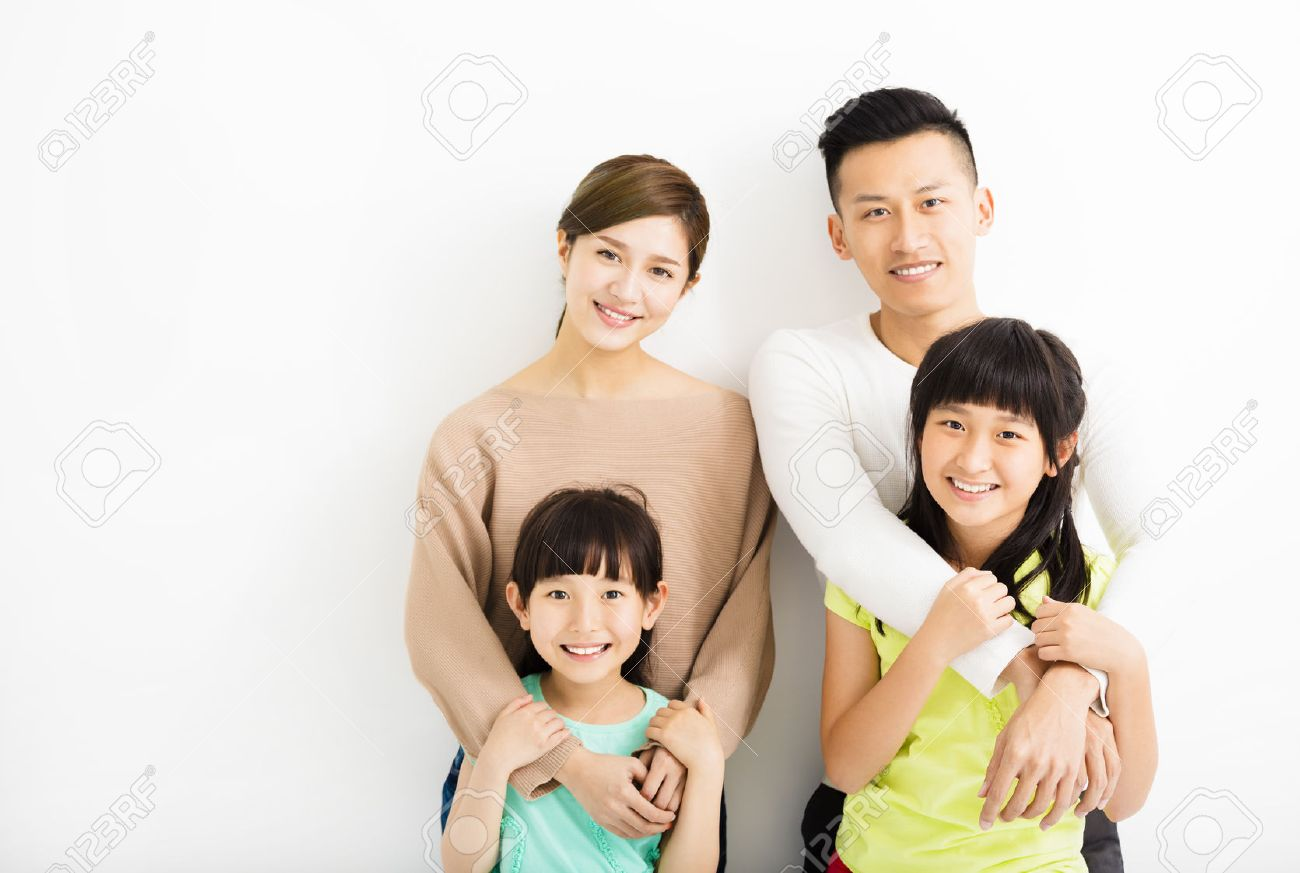 Happy Attractive Young  Family Portrait Stock Photo - 54004108