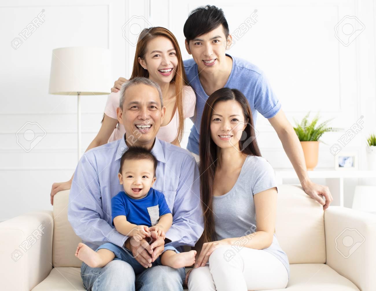 Portrait Of Three Generation asian Family - 104293720