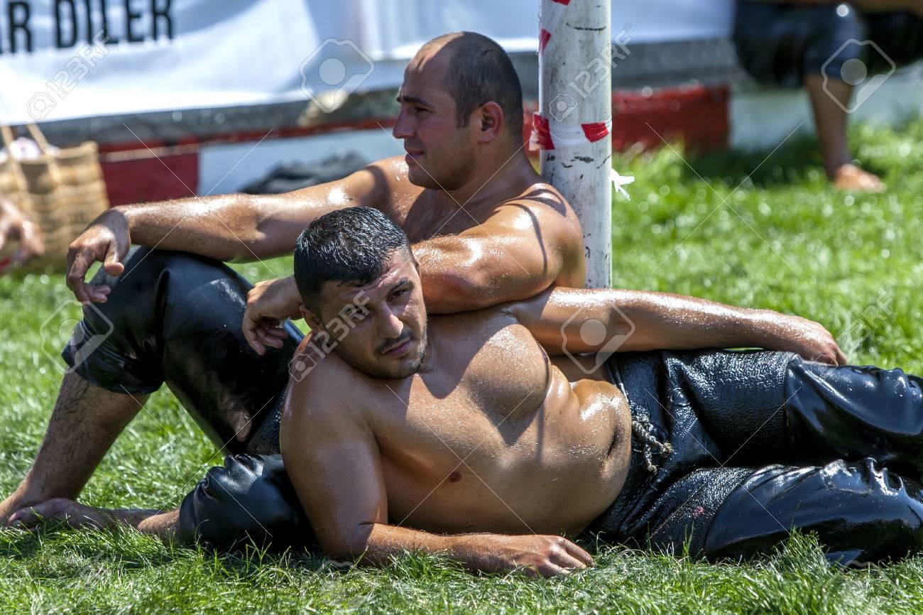 Real turkish oil wrestling