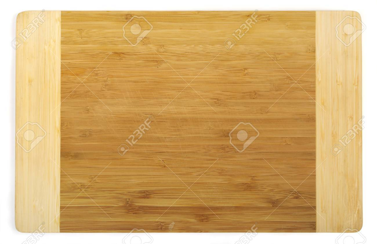 Kitchen cutting board made from bamboo, clipping path included Stock Photo - 9457794