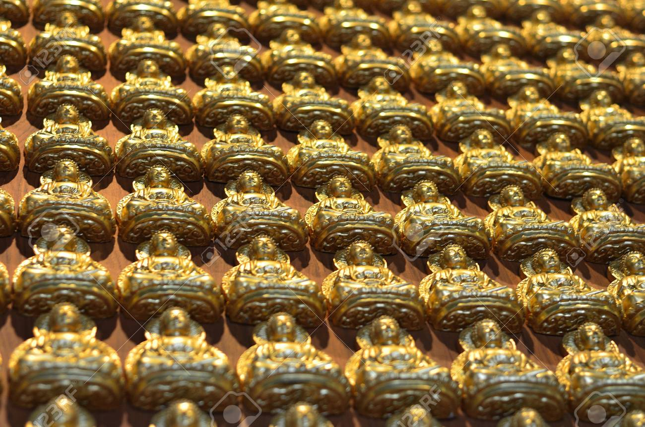 Pattern of gold chinese buddha Stock Photo - 16082079