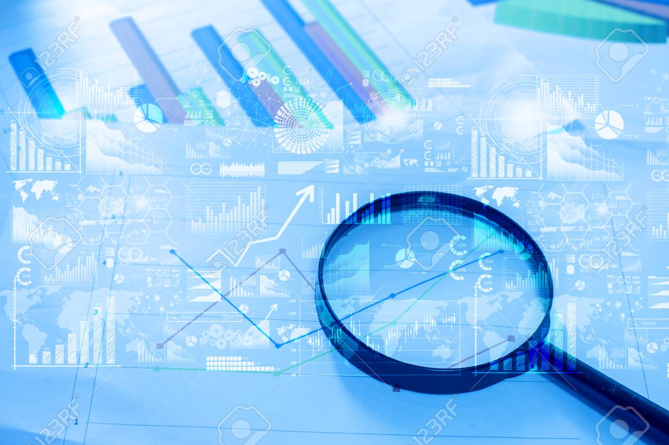 Royalty Picture Free Image Analytics Magnifying Table Documents 76787870 With Data Photo Glass Lying And Image selective On Stock