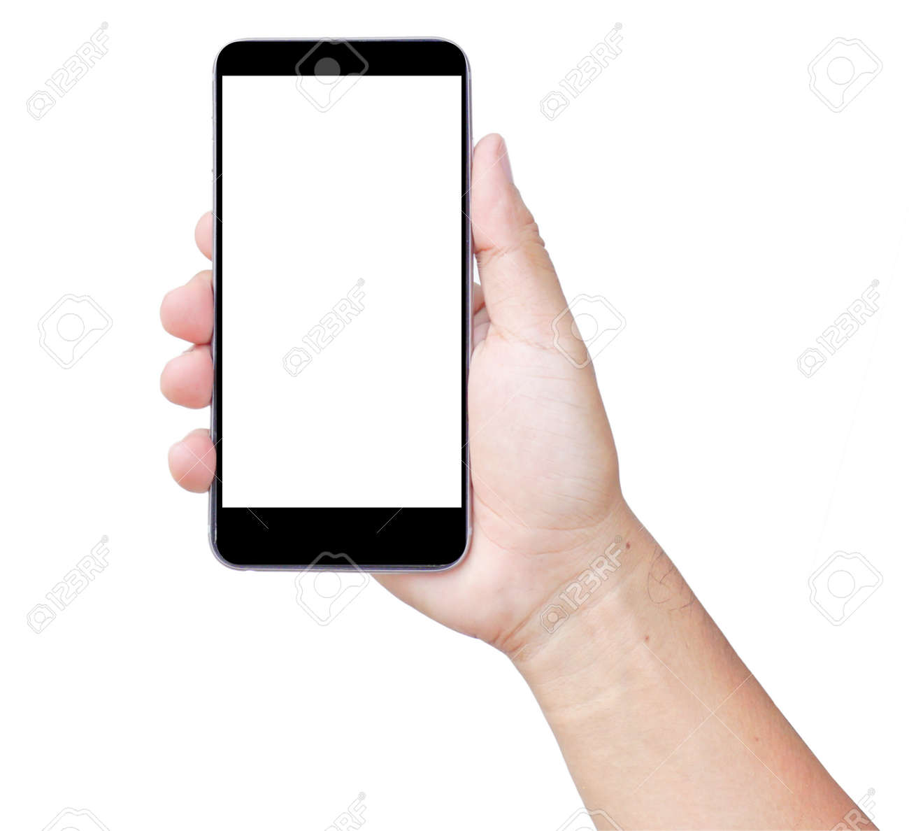 Touch screen smartphone, in hand - 148642043
