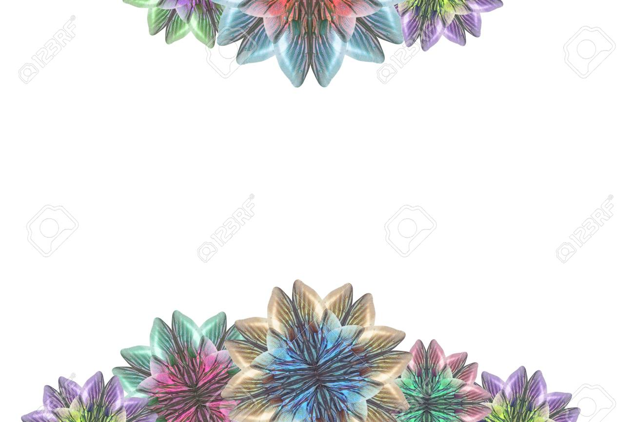 Insect wings create a multi-colored flower Stock Photo - 9724570