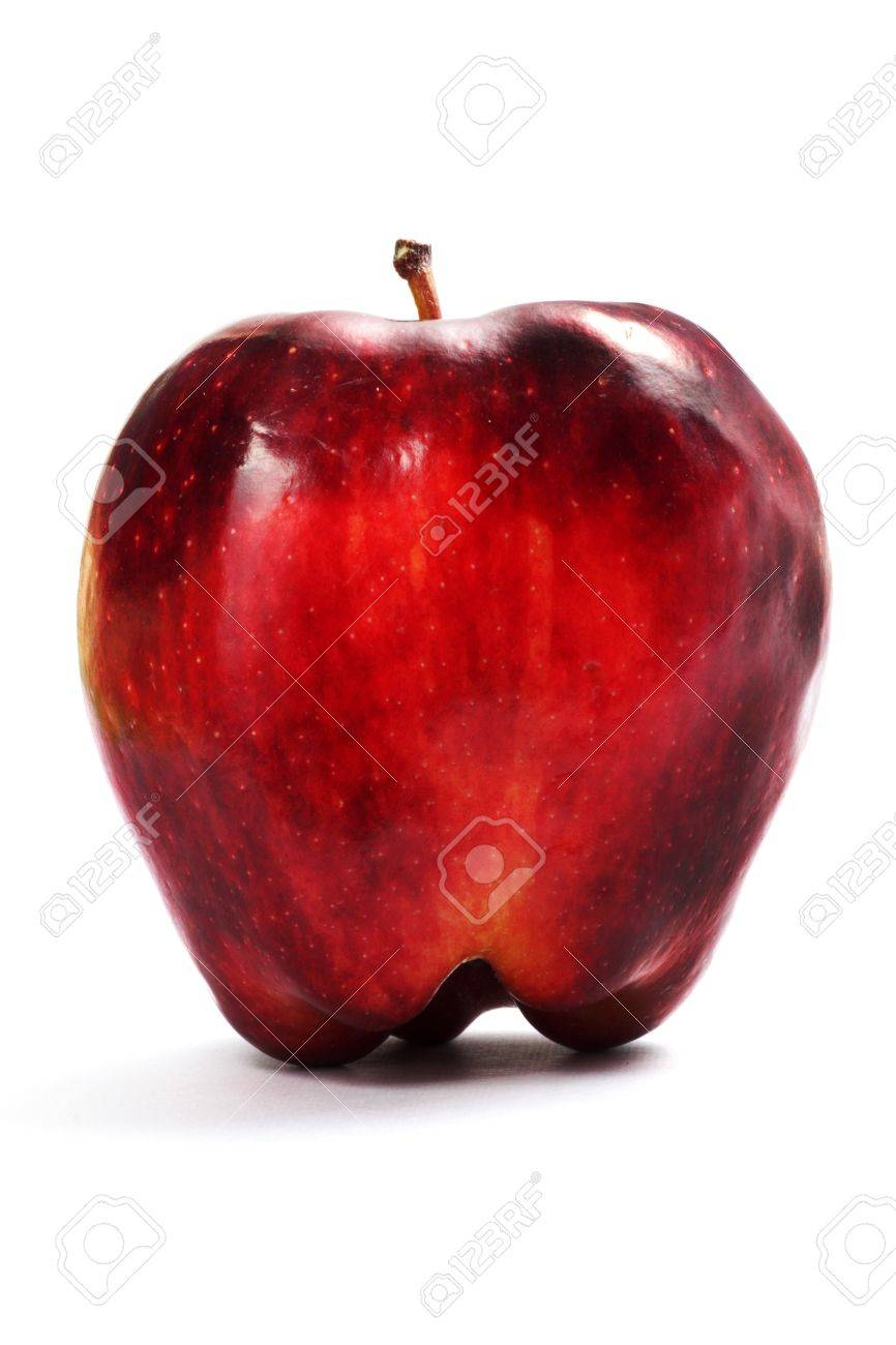 Rotten apple on a white background Stock Photo - 14888977