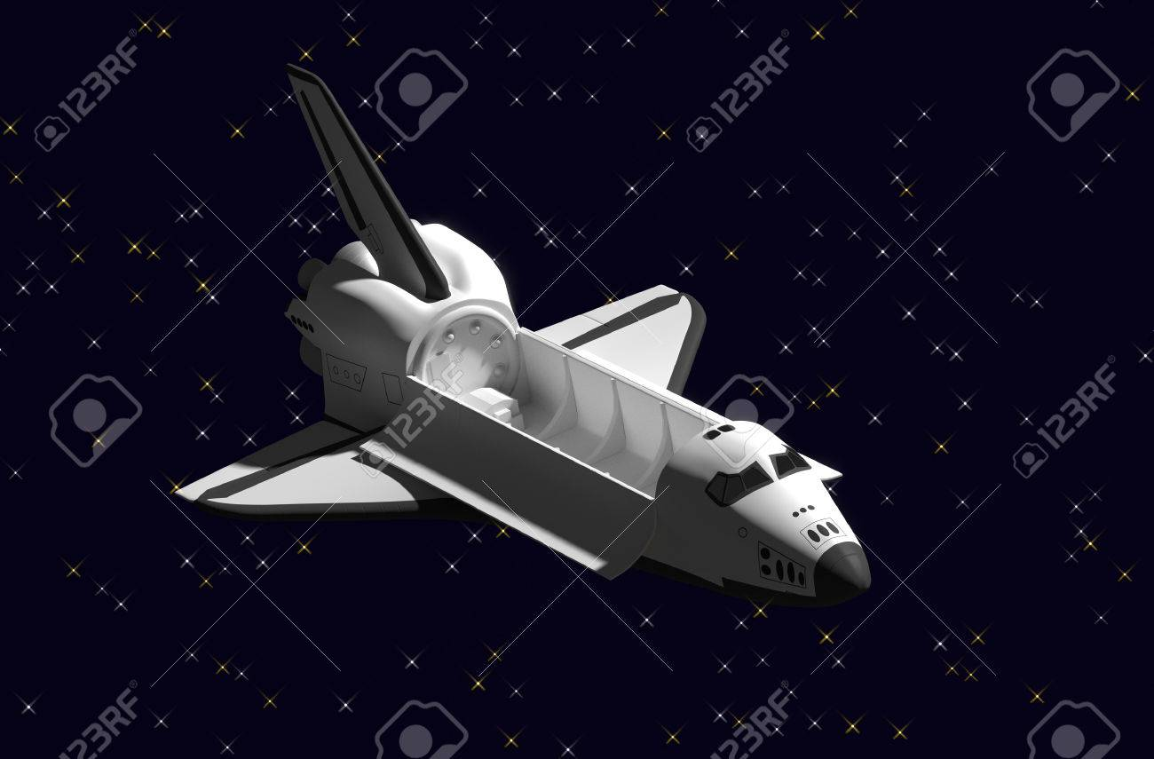Space Shuttle door delivery vehicles in space. Stock Photo - 46048671 & Space Shuttle Door Delivery Vehicles In Space. Stock Photo Picture ...