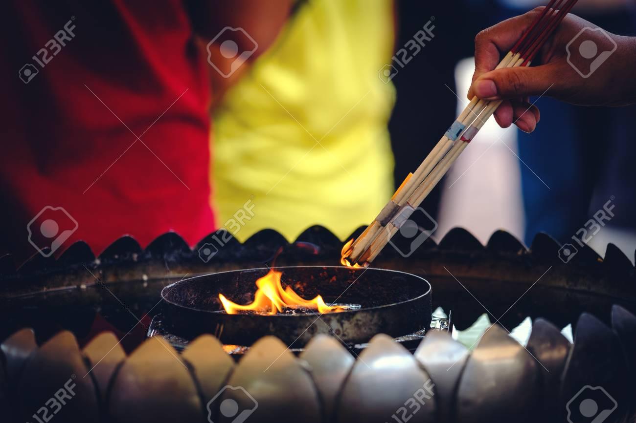 Incense Stick Burning Thai Buddhists Use Incense To Worship Buddha Stock Photo Picture And Royalty Free Image Image 88182332