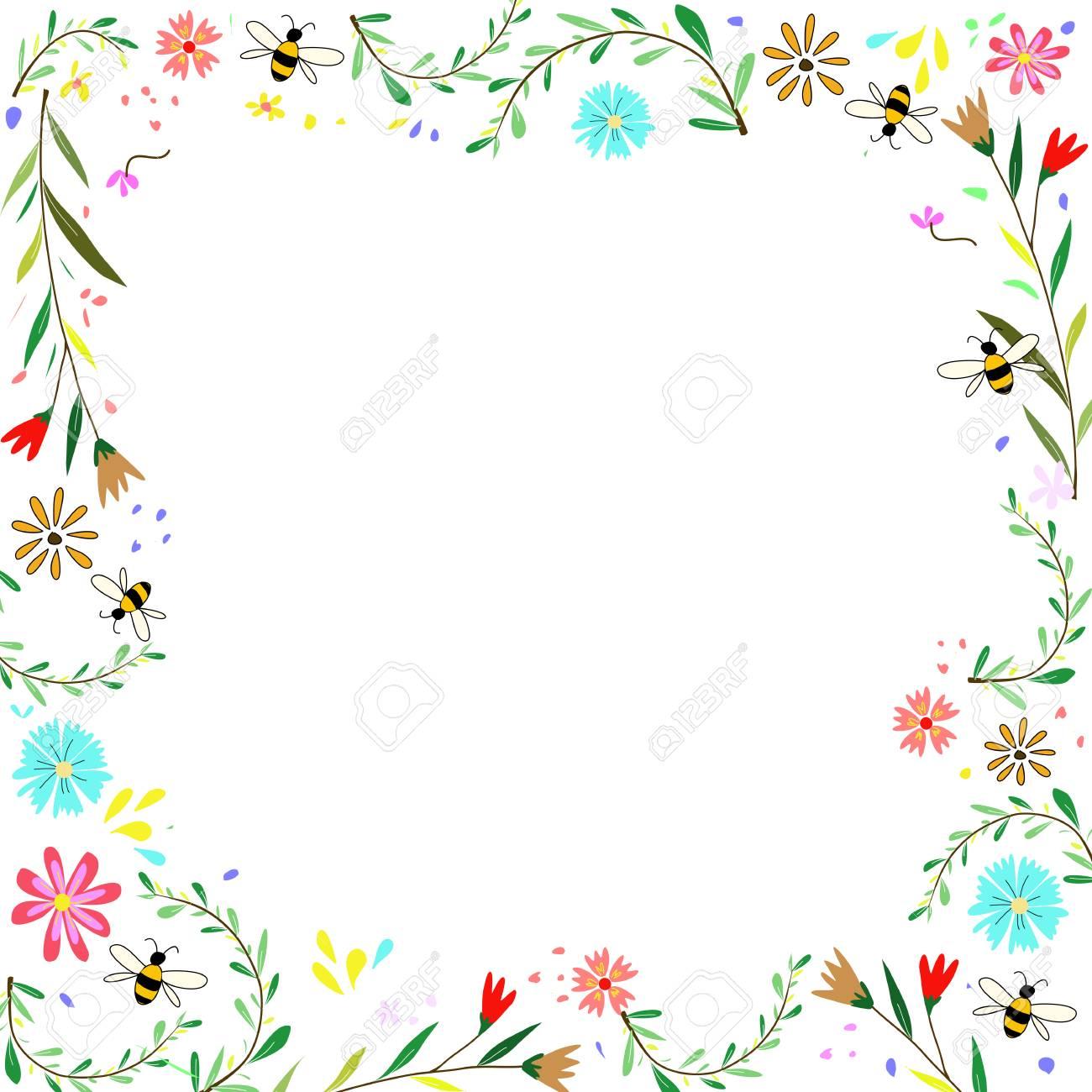 Nature Fleur Coloree Dessin Cadre De La Main Banque D Images Et