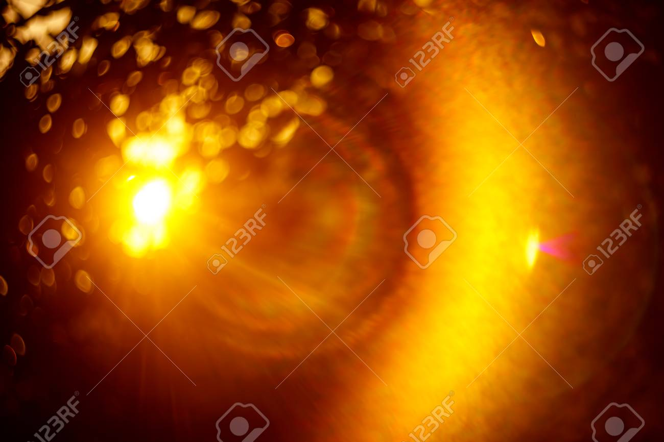 Nature sun light bokeh and lens flare abstract background