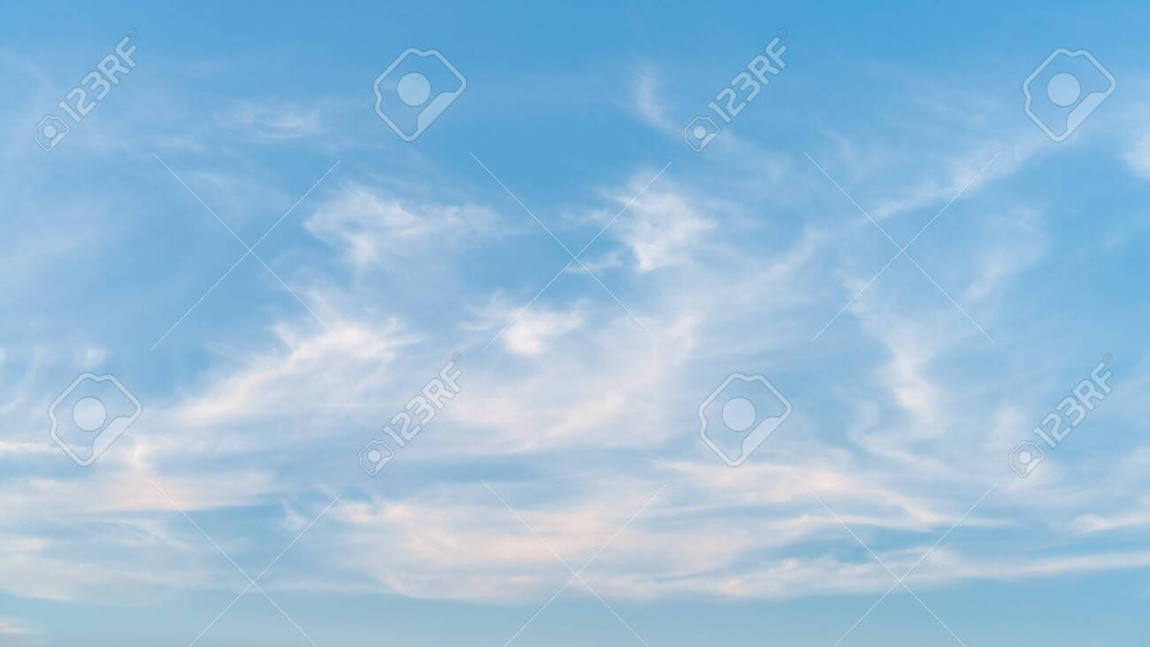 Sunset sky and white clouds abstract background. Copy space of nature and environment concept. - 122405155