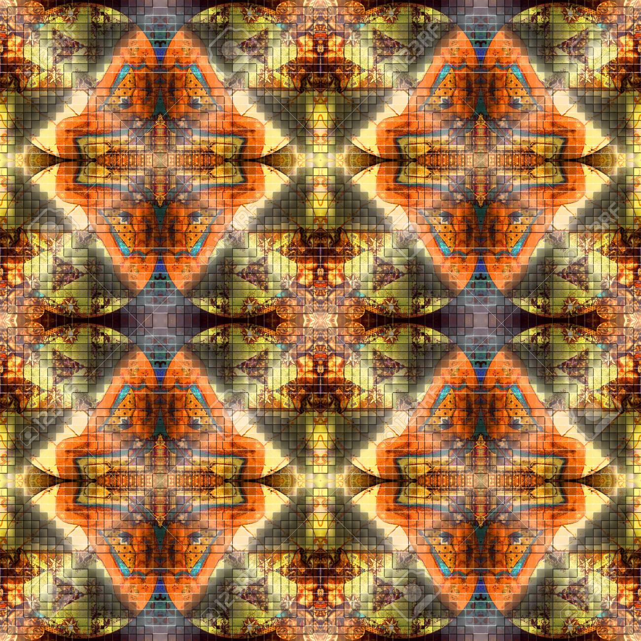 天使とシームレスなファンタジー パターン 例えば 生地 壁紙 壁の