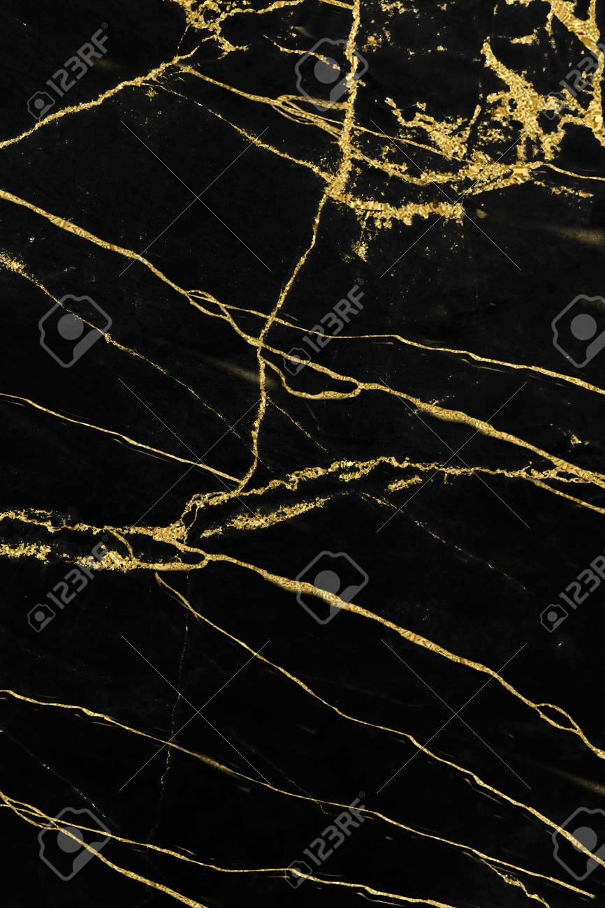 Black And Gold Marble Texture Design For Cover Book Or Brochure
