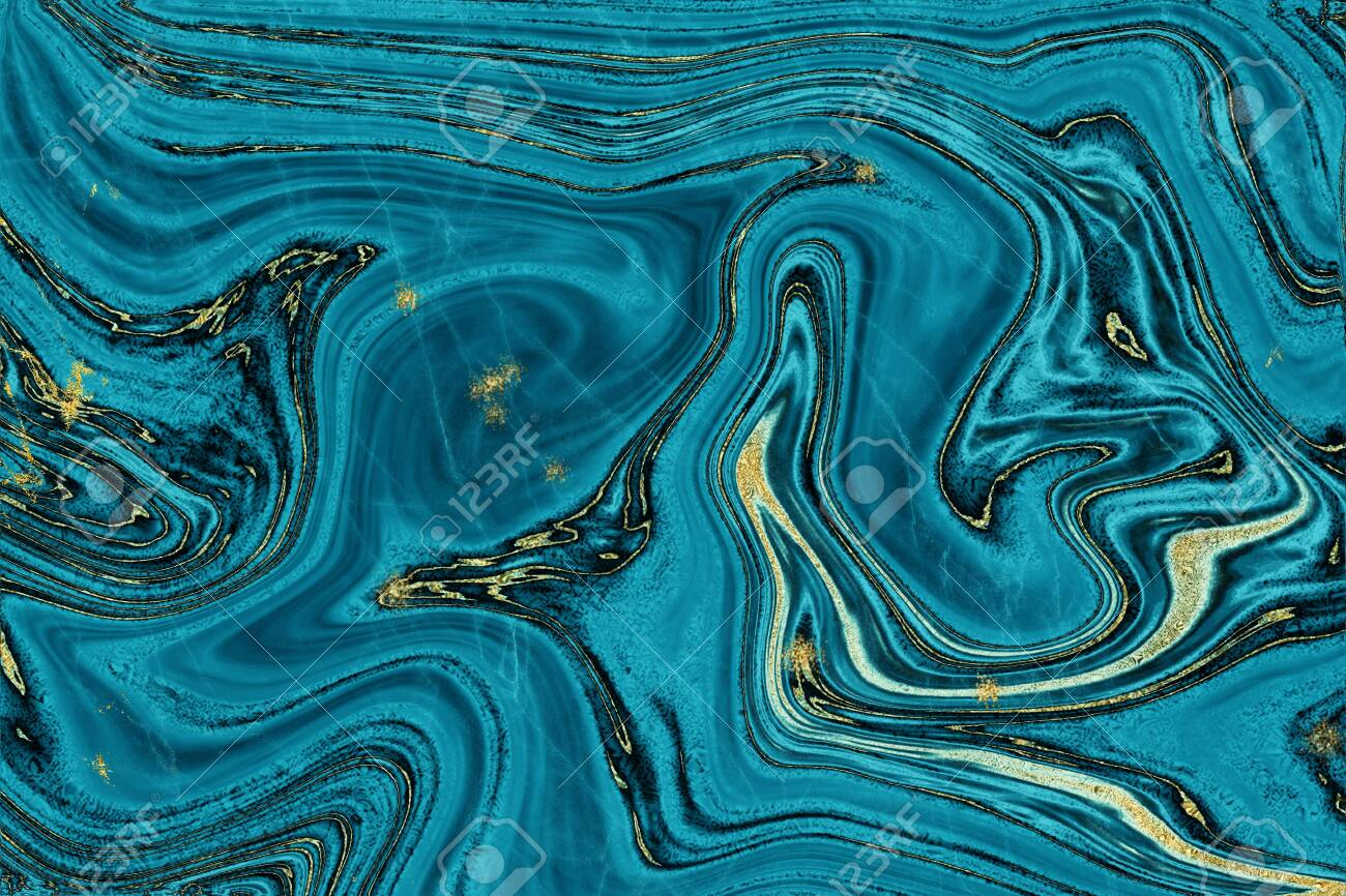 Blue And Gold Marble Texture Design For Cover Book Or Brochure Stock Photo Picture And Royalty Free Image Image 122778433