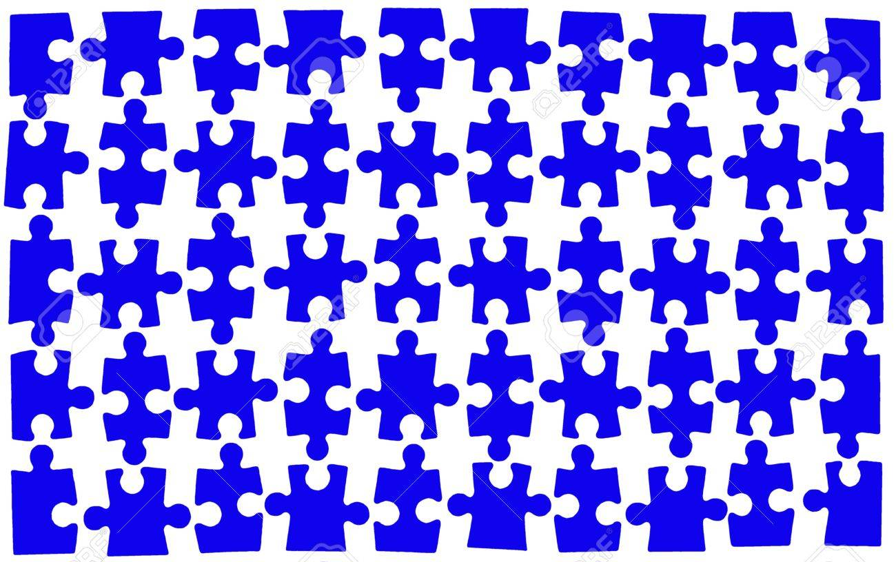 jigsaw puzzle with 50 pieces pieces fit into each other stock photo