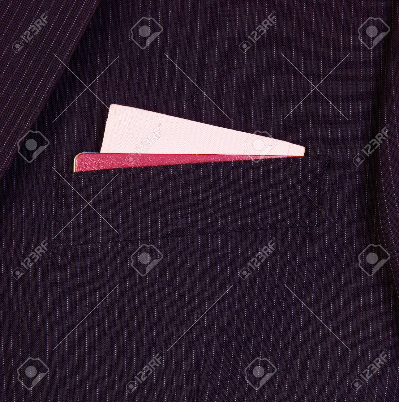 Suit with international passport and driving license Stock Photo - 9652061