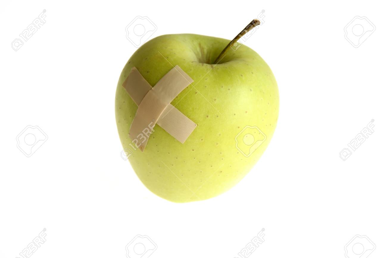 Genetically modified foods, with bandage after hurt Stock Photo - 4432759