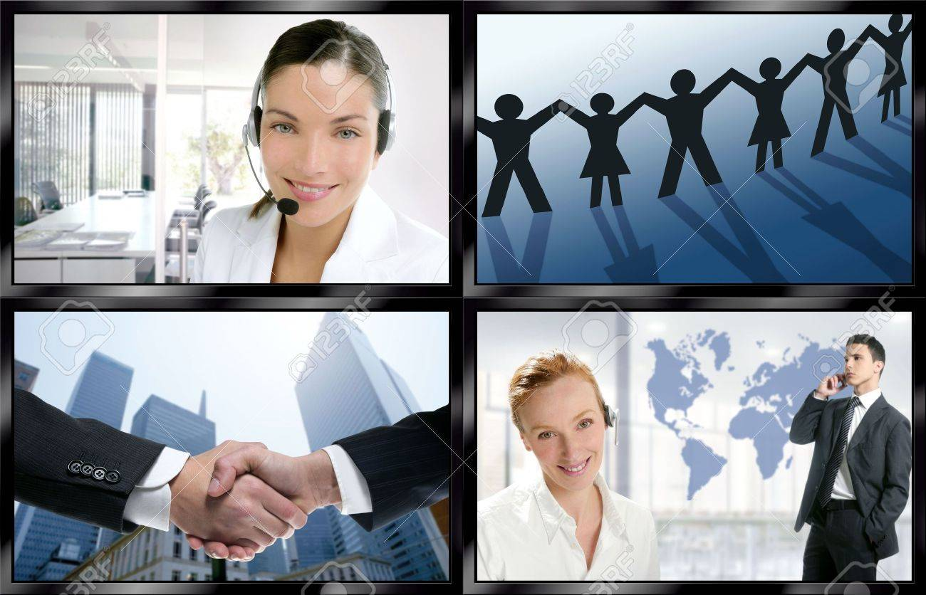 Futuristic tv video news digital screen wall with business concepts Stock Photo - 5157567