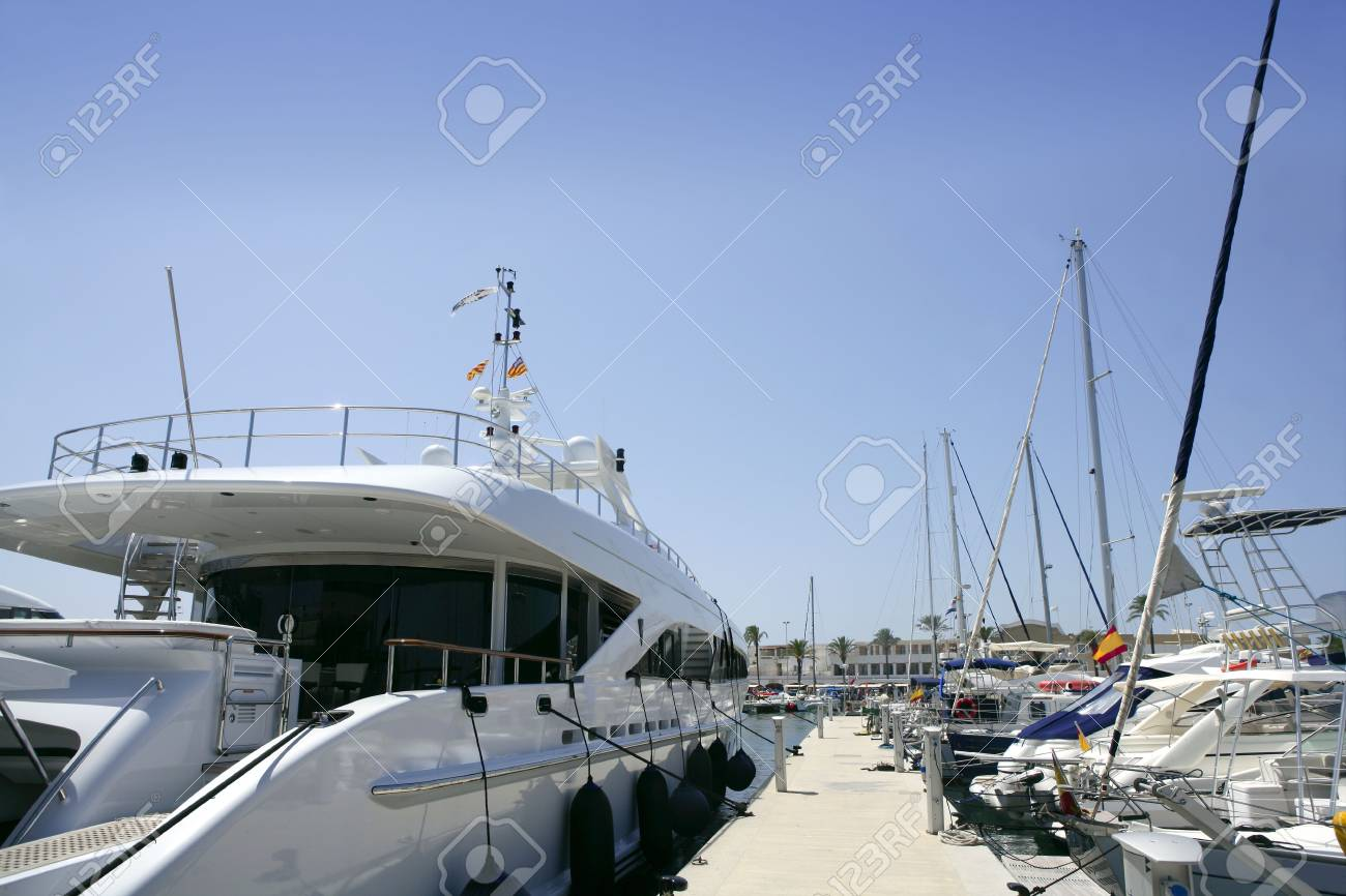 La Savina port in Formentera Mediterranean balearic island Stock Photo - 5572944
