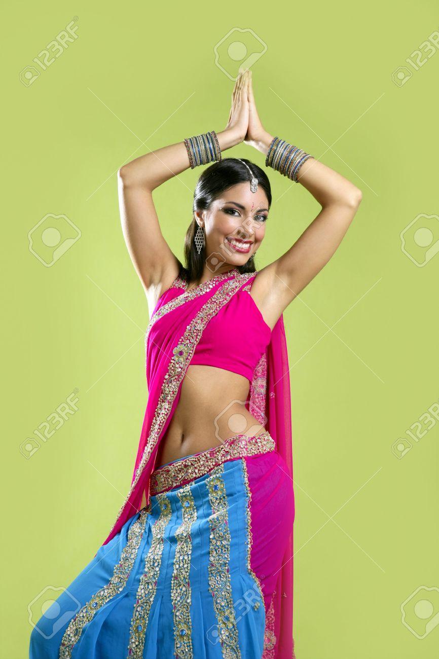 Brunette Bollywood Goddess Dances