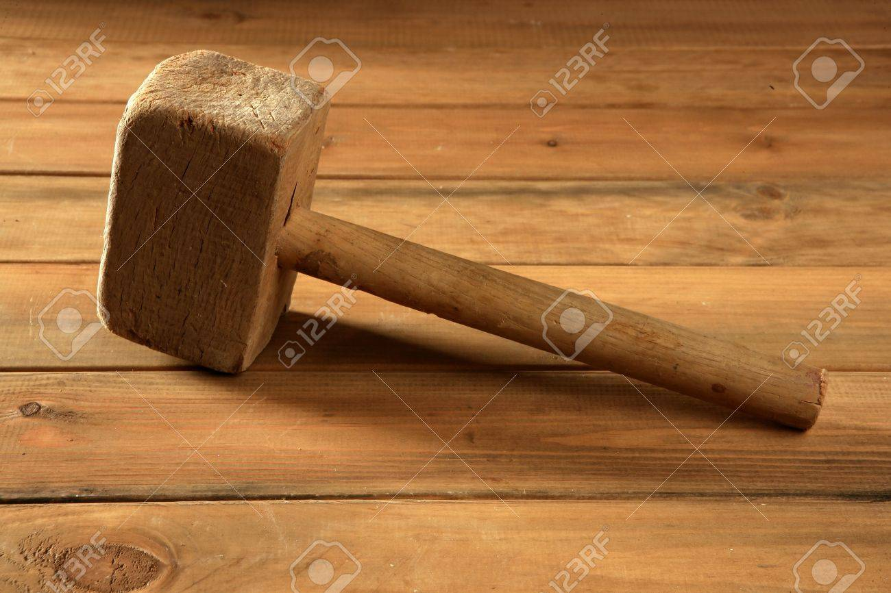 aged wood hammer vintage worker hand tools Stock Photo - 6846860