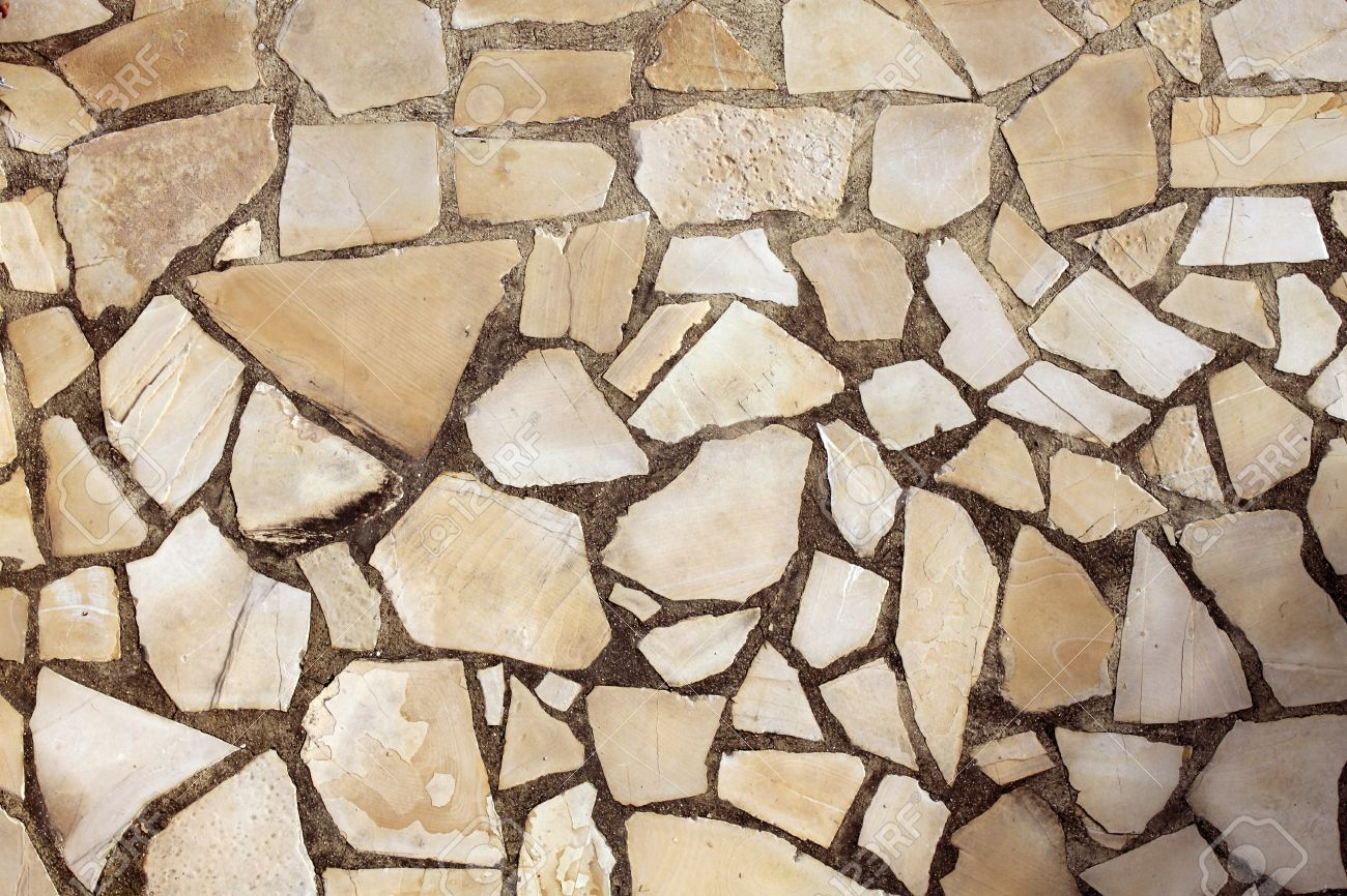 Stone Tile Floor Texture masonry rock stone tiles floor on the park background pattern