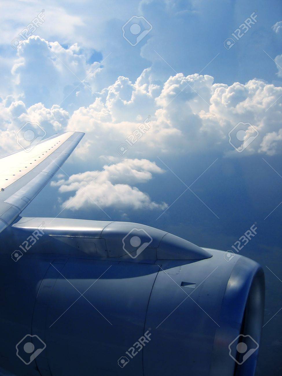 airplane reactor sky view from aircraft  clouds Stock Photo - 7240672