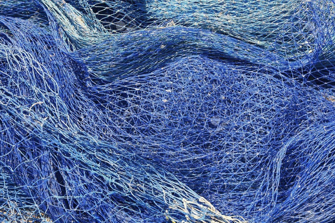 fishing nets still life background pattern fishermen tackle Stock Photo - 7780577