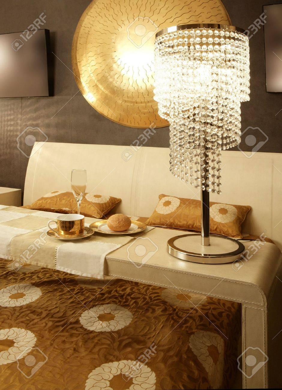 Asian modern bedroom breakfast table luxury interior design Stock Photo - 8385030