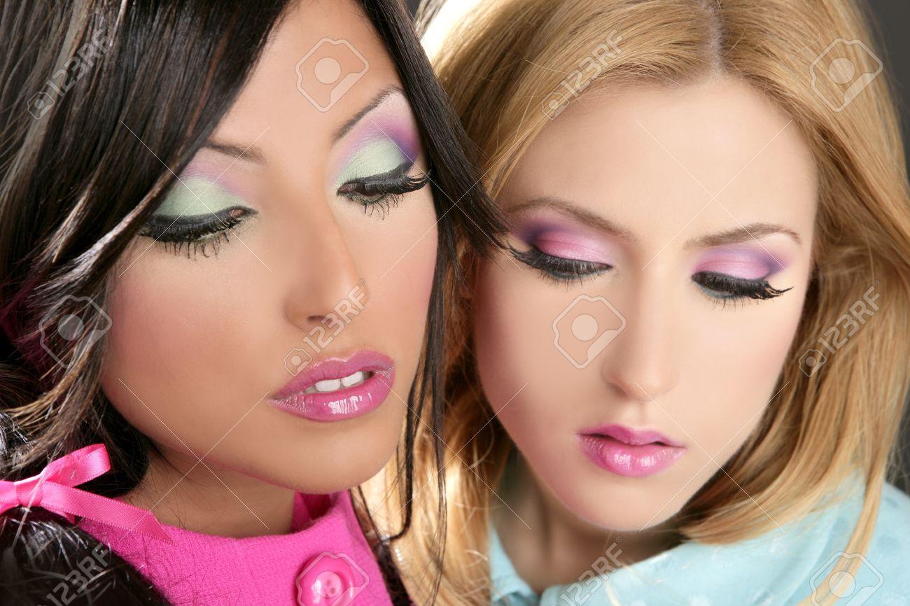 Barbie women doll 1980s style fashion makeup pink portrait Stock Photo - 8424690