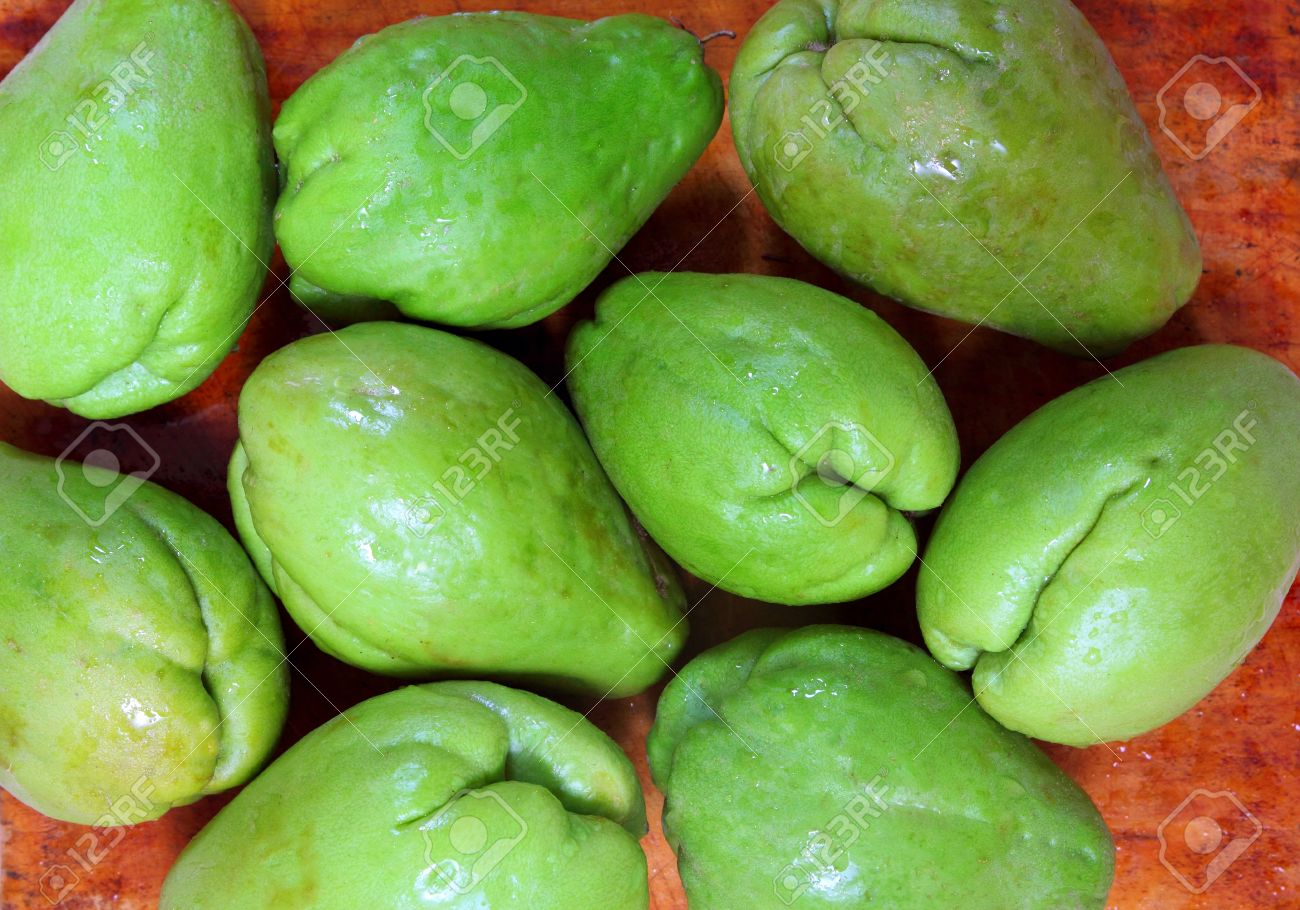 Chayote Mango Fruit Squash Mirliton Vegetable Stock Photo Picture