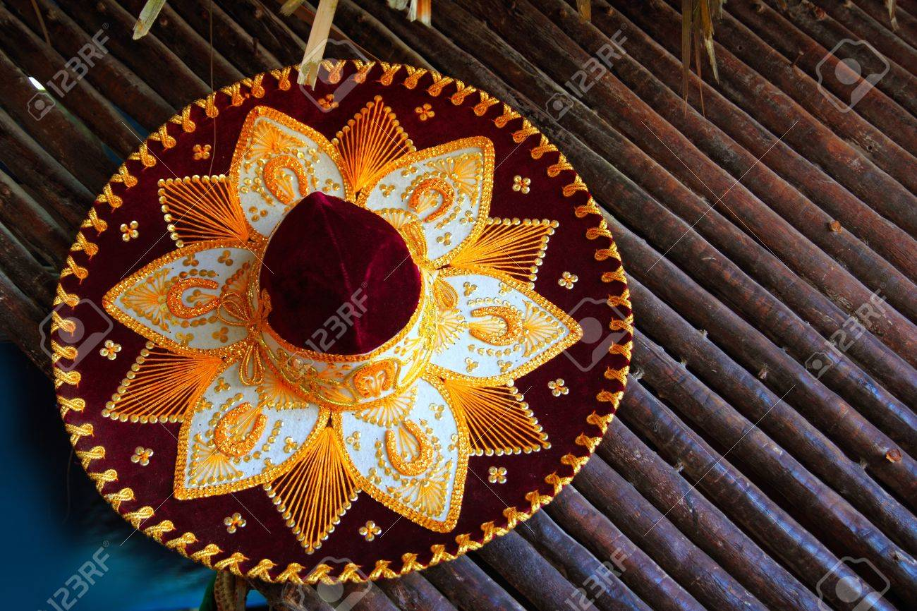 beautiful charro mariachi hat mexican icon from Mexico Stock Photo - 8926539