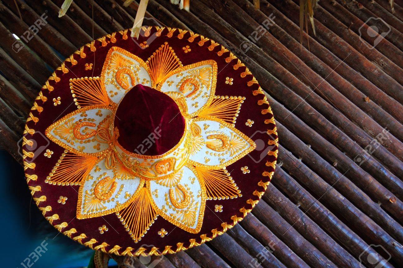 e499c688995d1 Foto de archivo - Icono de mexicano de sombrero de mariachi de hermosa charro  de México