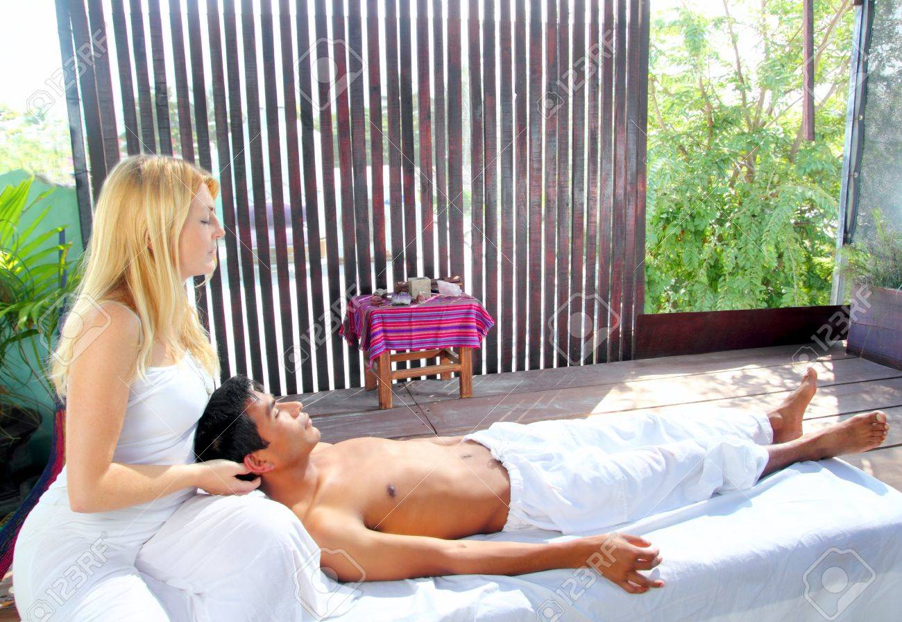 cranial sacral massage therapy in Jungle cabin tropical rainforest Stock Photo - 9120781