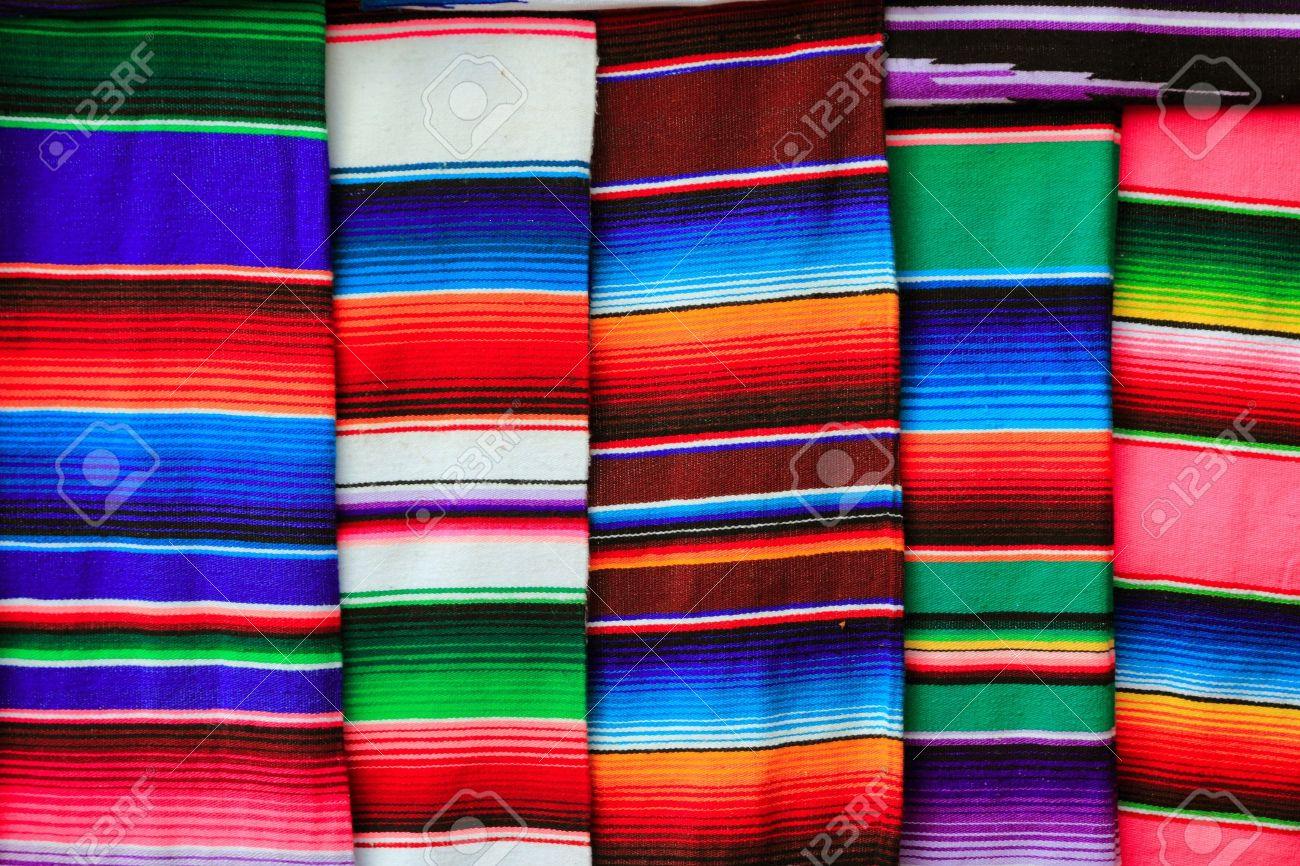 Fondo De Textura Serape Mexicano Tejido Colorido Patrón Fotos ...