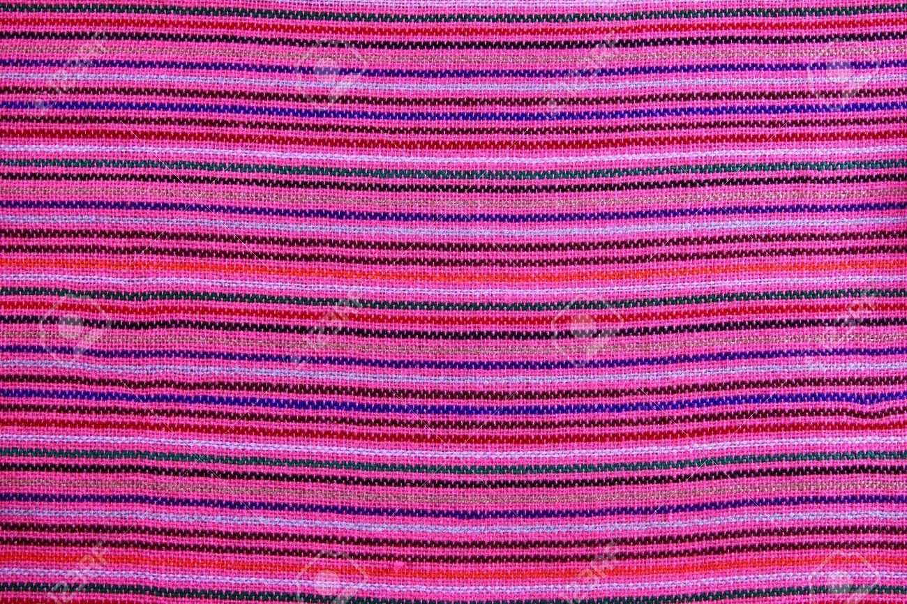 Mexican serape vibrant pink macro fabric texture background Stock Photo - 9143035